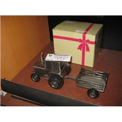 BANK TRACTOR WITH WAGON W/ BOX
