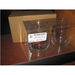 MR AND MRS WINE GLASS SET W/ BOX