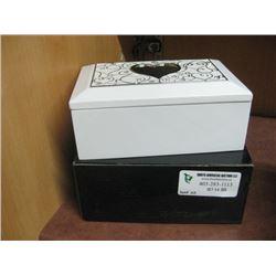 WHITE JEWEL BOX W/ BOX