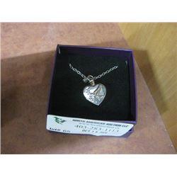 DOVE HEART ASH PENDANT W/ BOX