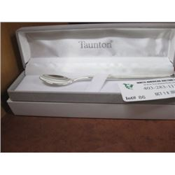 TAUNTON SILVER SPOON WITH CASE