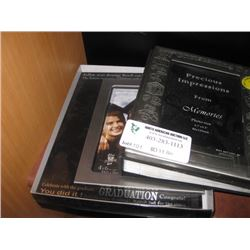 2PC PICTURE FRAMES AND PHOTO ALBUMS
