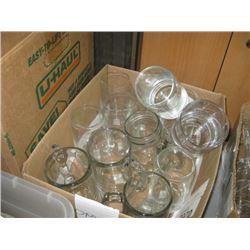 ASSORTED GLASS MUGS