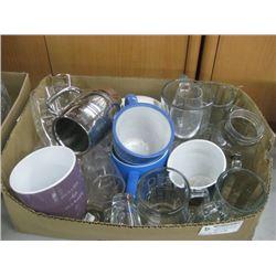 ASSORTED SAMPLE GLASS CUPS/MUGS