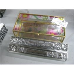 FLORAL LOVE GLASS BOX AND BIRTH CERTIFICATE CASE