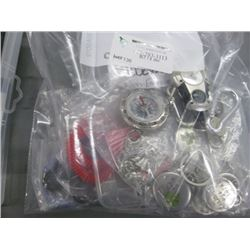 BAGS OF ASSORTED CHARMS AND KEYCHAINS