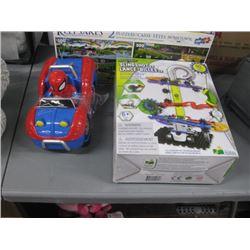 KEEPSAKES 2 PUZZLES , SLINGSHOT 2.0 MARBLE LAUNCHER, REMOTE CONTROL CAR