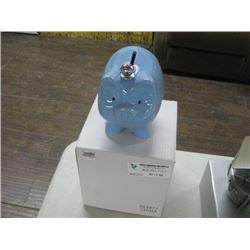 BLUE PIGGY BANK W/ BOX
