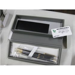 CADENCE SILVER BALLPOINT PEN 2PC W/ BOX