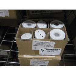 ZCAPPT1 2 BOXES OF 6PC MENU PORCELAIN PEPPER SHAKERS