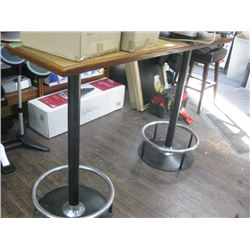 18 INCH X 5 FT DOUBLE STAND UP BAR TABLE