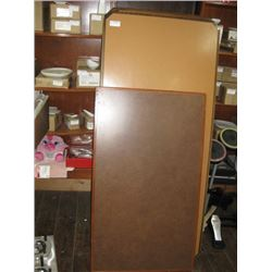 7 PC TABLE 6 PC ARE 30 X 66 INCH TABLE TOPS ONLY