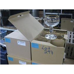2 BOXES / 12 GLASSES TRAPPISTES ROCHEFORT GLASSES]