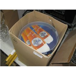 CASE OF BRANDED SERVING TRAYS