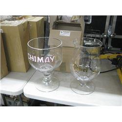 PAIR OF BRANDED FISH BOWL GLASSES