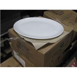 WHD131 CHURCHILL 12PC WHITE OVAL PLATE 13.25 INCH