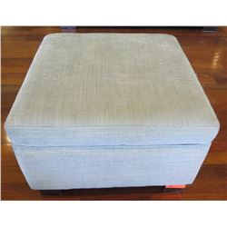 "Gray Square Upholstered Ottoman 27"" x 27"" x 18""H"