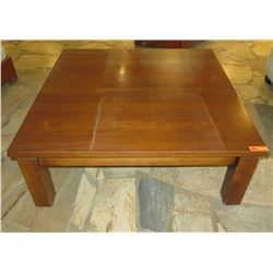 "Square Wooden Coffee Table 47.5"" x 47.5"" x 18""H"