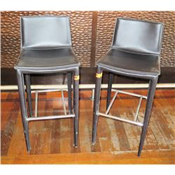 "Qty 2 Bar-Height Stools 38""Back Ht."