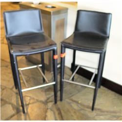Qty 2 Bar-Height Stools 38 Back Ht.