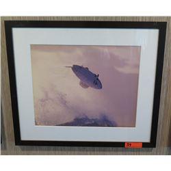 "Framed & Matted Art: Airborn Surfer  28"" x 24"""