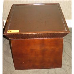 """Square Wooden End Table w/ Removeable Top 19.5"""" x 19.5"""" x 20""""H"""