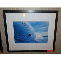 """Framed & Matted Art: Surfer in Barrel 28"""" x 24"""""""