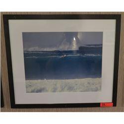 """Framed & Matted Art: Surfer in Wave Set 28"""" x 24"""""""
