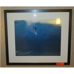 """Framed & Matted Art: Surfer Taking Off 28"""" x 24"""""""