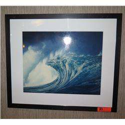 """Framed & Matted 28"""" x 24 Art: Big Wave #1"""