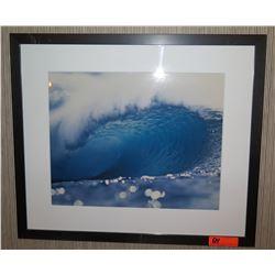 """Framed & Matted 28"""" x 24 Art: Big Wave #2"""