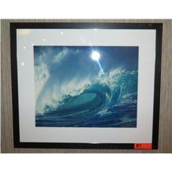 """Framed & Matted 28"""" x 24 Art: Big Wave #3"""