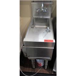 "Metal Handwashing Station w/ Faucet & Soap Dispenser 12""x 26.5""D"