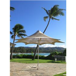 """Large Tuuci Collapsible 8-Spoke Umbrella 156"""" Tall, Approx. 219"""" Across (missing crank to open & fol"""