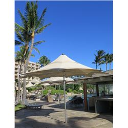 """Large Tuuci Collapsible 8-Spoke Umbrella 156"""" Tall, Approx. 219"""" Across (includes crank to open & fo"""