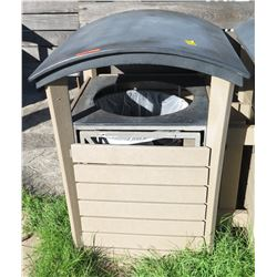 """Wooden Outdoor Waste Receptacle 32"""" x 32"""" x 44.5""""H"""