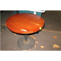 Smal Round Table with Metal Base
