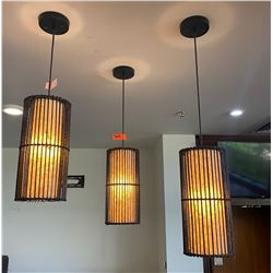 Qty 3 Cylinder Pendant Lights