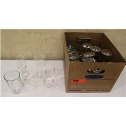 Box Misc Glassware: Wine Glasses, Champagne Flutes, Tea Glasses