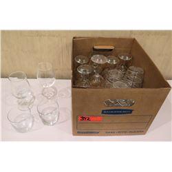 Box Misc Glassware: Wine Glasses, Short Highball Glasses