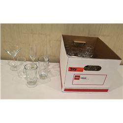 Box Misc Glassware: Champagne Flutes, Tea Glasses, etc