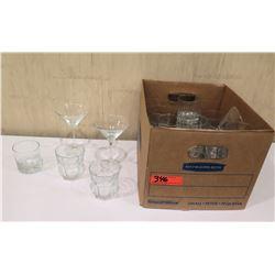 Box Misc Glassware:  Martini & Short Highball Glasses
