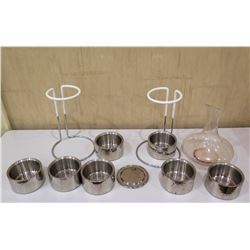 Glass Decanters, Stands & Fuel Cell Holders