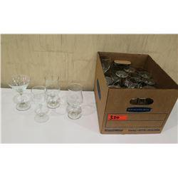 Box Misc Glassware: Wine, Cocktail & Martini Glasses