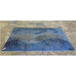 Blue Tonal Area Rug 6'x9'