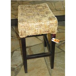 Woven Stool w/ Wooden Frame