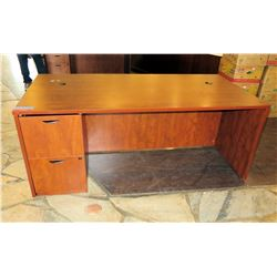 "Wooden Desk w/ 2 Drawers 72""x38""x28.5""H"