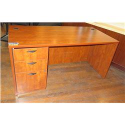 "Wooden Desk w/ 3 Drawers 60""x30""x29""H"