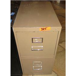 Beige Metal 2-Drawer File Cabinet