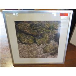 Framed & Matted Photographic Image (Water/Rocks), Signed by Artist Doreen Decald